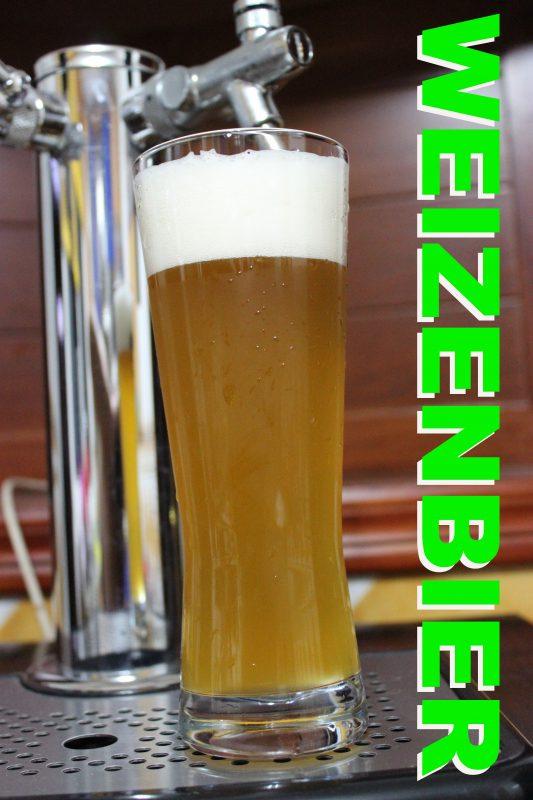 Pinta de cerveza del estilo weizenbier o cerveza de trigo