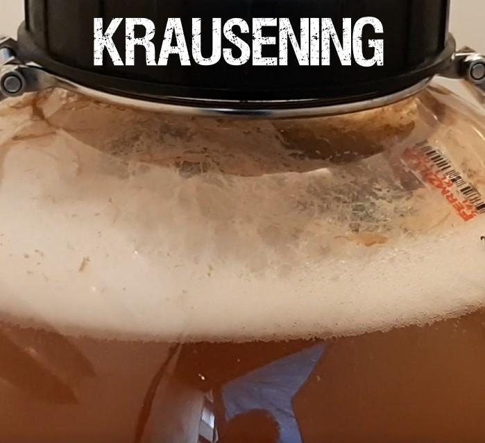 krausening es un método donde se utiliza una fermentación activa para carbonatar otra cerveza